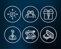 Το Sms, δίνει τα εικονίδια παρόντων και υπαλλήλων μίσθωσης Ηλεκτρονικό ταχυδρομείο, μυστικά δώρο και σημάδια μετρητών Στοκ Φωτογραφίες