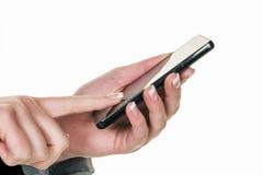 Το Sms σε κινητό γράφεται Στοκ εικόνες με δικαίωμα ελεύθερης χρήσης