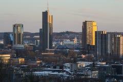 Νέο κέντρο Vilnius Στοκ εικόνα με δικαίωμα ελεύθερης χρήσης