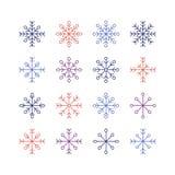 Το Snowflake σύνολο Στοκ φωτογραφίες με δικαίωμα ελεύθερης χρήσης