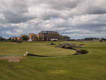 Το ST Andrews συνδέει το παλαιό γήπεδο του γκολφ σειράς μαθημάτων στοκ φωτογραφίες