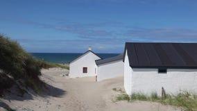 Το Stenbjerg είναι ένα ψαροχώρι στο πρώην νησί του δικού σου απόθεμα βίντεο