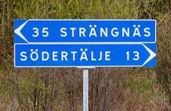Το Strangnas και Sodertalje καθοδηγούν Στοκ εικόνες με δικαίωμα ελεύθερης χρήσης