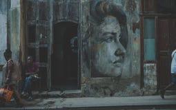 Το Streetart Κούβα Αβάνα Στοκ Φωτογραφίες