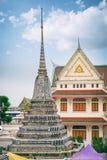 Το Stupa με το χρωματισμένο faience, Wat Arun Στοκ Εικόνες