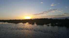 Το Sunsets χαμηλώνει τους Florida Keys Στοκ Εικόνες