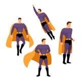 Το Superhero θέτει Στοκ φωτογραφίες με δικαίωμα ελεύθερης χρήσης