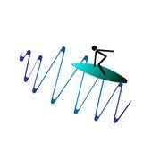 Το Surfer Στοκ εικόνες με δικαίωμα ελεύθερης χρήσης