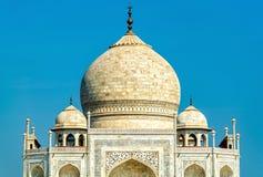 Το Taj Mahal, το διασημότερο μνημείο της Ινδίας Agra - Ουτάρ Πραντές στοκ φωτογραφία