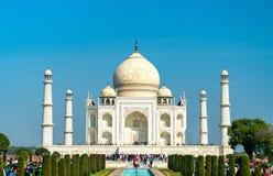 Το Taj Mahal, το διασημότερο μνημείο της Ινδίας Agra - Ουτάρ Πραντές στοκ φωτογραφία με δικαίωμα ελεύθερης χρήσης