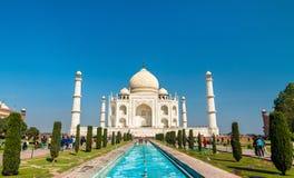 Το Taj Mahal, το διασημότερο μνημείο της Ινδίας Agra - Ουτάρ Πραντές στοκ φωτογραφίες με δικαίωμα ελεύθερης χρήσης