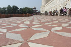 Το Taj Mahal, λεπτομέρεια πατωμάτων Στοκ Εικόνα