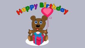 Το Teddy αντέχει γενέθλια - ζωτικότητα διανυσματική απεικόνιση