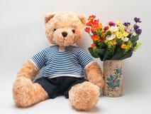 Το Teddy αντέχει καφετή Στοκ Φωτογραφίες