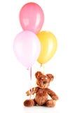 Το Teddy αντέχει με τα ζωηρόχρωμα μπαλόνια Στοκ φωτογραφίες με δικαίωμα ελεύθερης χρήσης