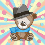 Το Teddy αντέχει με το καπέλο ελεύθερη απεικόνιση δικαιώματος