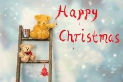 Το Teddy αντέχει στα Χριστούγεννα Στοκ εικόνα με δικαίωμα ελεύθερης χρήσης
