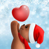 Το Teddy αντέχει στο καπέλο Χριστουγέννων Στοκ φωτογραφίες με δικαίωμα ελεύθερης χρήσης