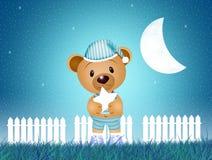 Το Teddy αντέχει τή νύχτα απεικόνιση αποθεμάτων