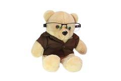 Το Teddy αντέχει τα γυαλιά Στοκ Φωτογραφία