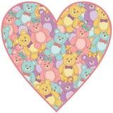 Το Teddy αντέχει την καρδιά διανυσματική απεικόνιση