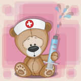 Το Teddy αντέχει τη νοσοκόμα απεικόνιση αποθεμάτων