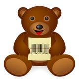 Το Teddy αντέχει τον κώδικα φραγμών Στοκ εικόνες με δικαίωμα ελεύθερης χρήσης