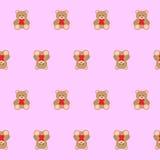 Το Teddy αντέχει το άνευ ραφής σχέδιο παιδιών διανυσματική απεικόνιση