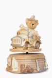Το Teddy αντέχει το κιβώτιο μουσικής Στοκ φωτογραφία με δικαίωμα ελεύθερης χρήσης