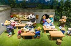 Το Teddy αντέχει το μουσείο στην Κίνα Στοκ φωτογραφία με δικαίωμα ελεύθερης χρήσης