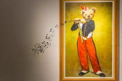 Το Teddy αντέχει το μουσείο στην Κίνα Στοκ Εικόνες