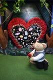 Το Teddy αντέχει το μουσείο Pattaya Στοκ Φωτογραφίες
