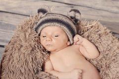 Το Teddy αντέχει το μωρό Στοκ Φωτογραφία