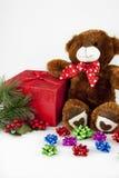 Το Teddy αντέχει & δώρο Στοκ εικόνες με δικαίωμα ελεύθερης χρήσης