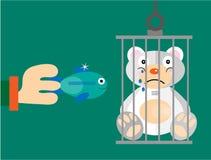 Το Teddy αφορά ένα πράσινο υπόβαθρο Στοκ εικόνες με δικαίωμα ελεύθερης χρήσης