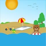 Το Teddy αφορά την παραλία Στοκ εικόνες με δικαίωμα ελεύθερης χρήσης
