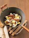 Το Tempeh ανακατώνει τα τηγανητά Στοκ Φωτογραφία