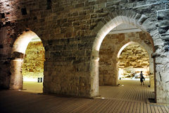 Το templar κάστρο ιπποτών σε Akko στοκ φωτογραφία