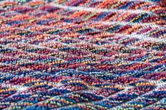 Το Terrycloth τα χρώματα, μακροεντολή στοκ εικόνες