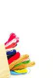 Το Theads για πλέκει τις εργασίες Στοκ Εικόνες