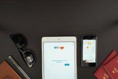 Το Trivago App Στοκ εικόνα με δικαίωμα ελεύθερης χρήσης