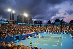 Το Tsonga β Petzschner σε Αυστραλό ανοίγει το 2011 Στοκ φωτογραφία με δικαίωμα ελεύθερης χρήσης