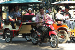 Το Tuk Tuk στην Ασία Καμπότζη Siem συγκεντρώνει Στοκ φωτογραφία με δικαίωμα ελεύθερης χρήσης
