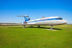 Το Tupolev TU-154 αεροσκάφη Στοκ Εικόνες