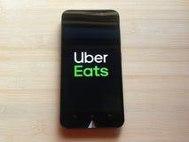 Το Uber τρώει στοκ εικόνες