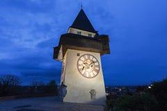 Το Uhrturm στο Γκραζ Στοκ Φωτογραφία
