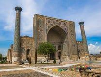 Το Ulugh ικετεύει Madrasah, Registan, Σάμαρκαντ, Ουζμπεκιστάν στοκ φωτογραφία με δικαίωμα ελεύθερης χρήσης
