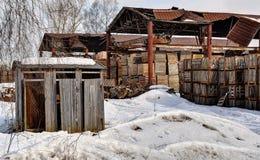 Παλαιά αποθήκη εμπορευμάτων Στοκ Φωτογραφία
