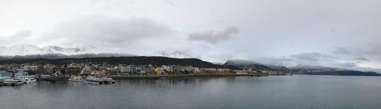 """Το Ushuaia που βρέθηκε στην πιό νοτηότατη άκρη της Νότιας Αμερικής, επαρονόμασε το """"End του World† Στοκ Εικόνα"""