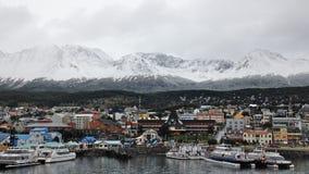 """Το Ushuaia που βρέθηκε στην πιό νοτηότατη άκρη της Νότιας Αμερικής, επαρονόμασε το """"End του World† Στοκ φωτογραφίες με δικαίωμα ελεύθερης χρήσης"""